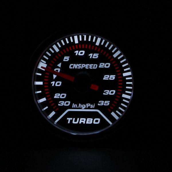 Cnsd 2 Inch 52mm Car Smoke Lens Turbo Boost Gauge Psi Display Meter