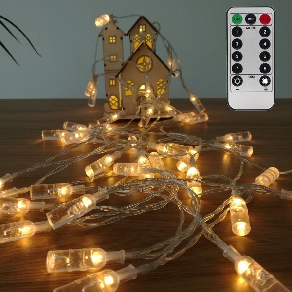 Fairy String Lights Battery Operated Remote Control Outdoor Indoor Waterproof 8 Modes 16 4ft 40 Led