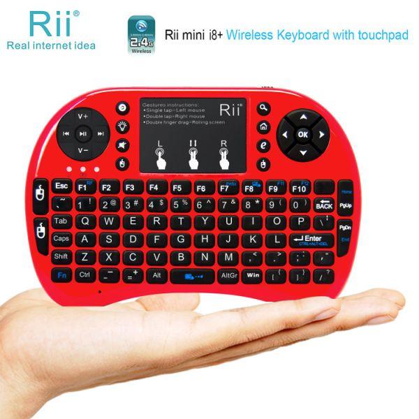 Rii mini i8+ Red Mini Keyboard with Backlight for Amazon fire TV Raspberry  Pi PC 1 Piece / piece