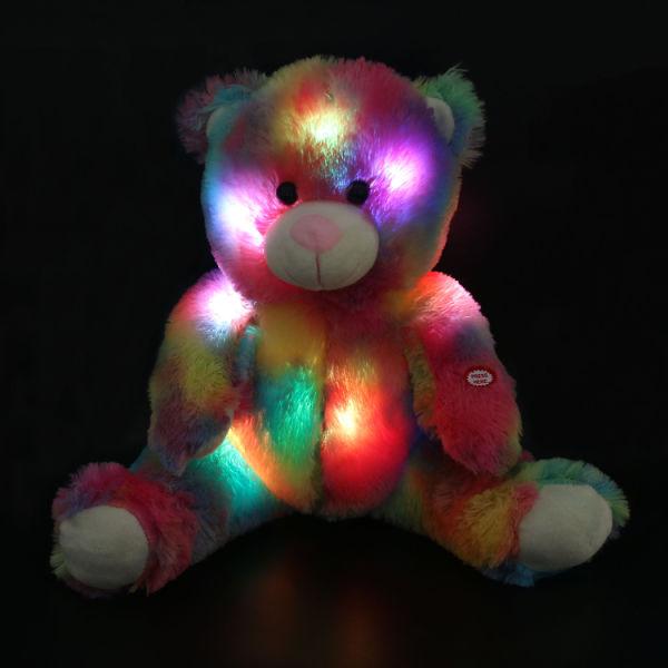 Shop For Colorful Rainbow Stuffed Teddy Bear With Led Night Light