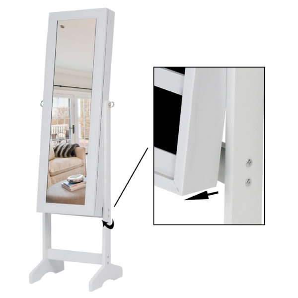 Shop For Kinbor Mirrored Jewelry Cabinet Amoire W Stand