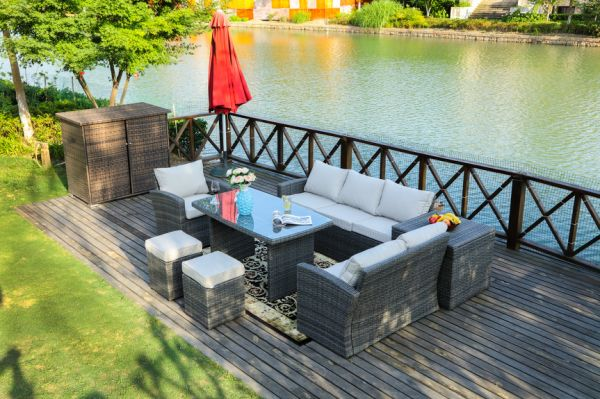 Shop For Direct Wicker 7 Pc Outdoor Pe Rattan Wicker Sofa Rattan