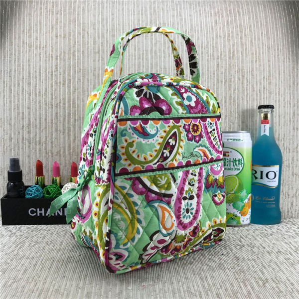 VB Campus Lunch Bag Pastoral ethnic Style Floral Insulated Cooler Bag Portable Waterproof Picnic Food Storage Box Double Layer Tote C72901