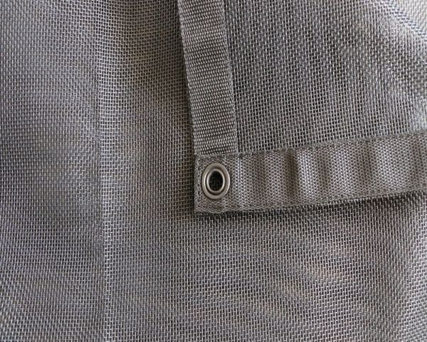 Tentproinc Truck Mesh Tarp 9 X 15 Black Heavy Duty Cover Reinforced Double Needle Stitch Webbing Ripping and Tearing Stop 3 Years Limited Warranty No Rust Thicker Brass Grommets