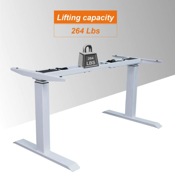 Pleasing Aiterminal Electric Standing Desk Frame Dual Motor Height Adjustable Desk Frame Motorized Stand Up Desk White Frame Only 1 Unit Box Download Free Architecture Designs Licukmadebymaigaardcom