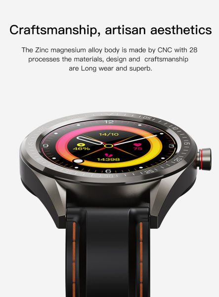 CYBORIS 1.28'' IPS Touch Screen Waterproof Smart Watch Sports Bracelet IP68 Waterproof Bluetooth 4.2 200mAh