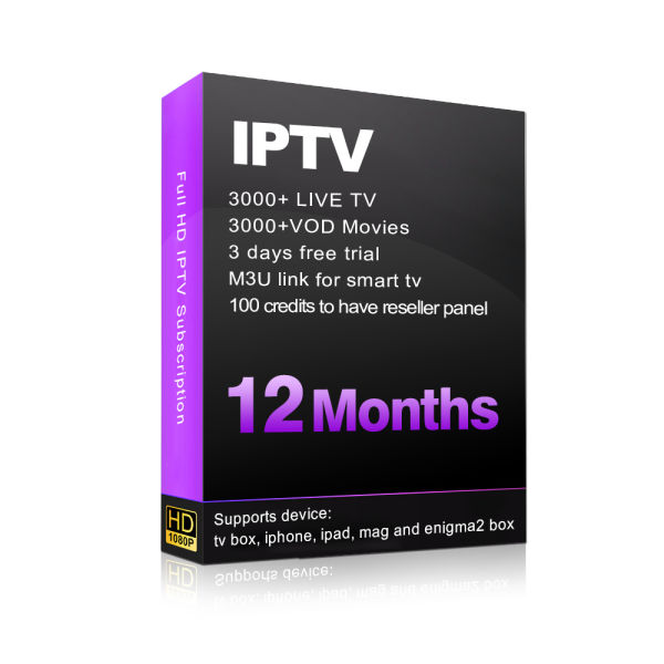 1 Year IPTV Subscription With Live TV & VOD HD Movies Includes US Canada  Arabic UK Italia Brazil Latina iptv Channels 1 year / year