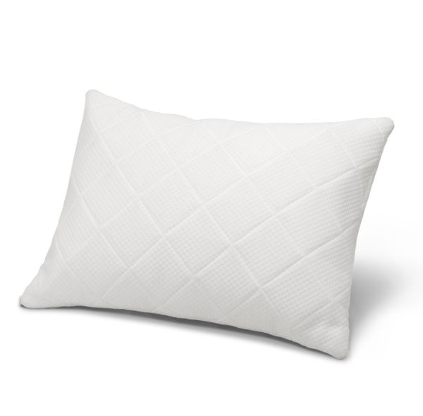 Bed Pillow Shredded Hypoallergenic Memory Foam For Sleeping With Zippered Inner Case And Adjule Loft