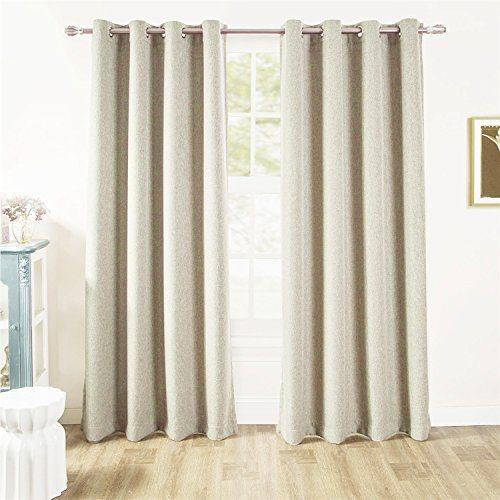 Shop For ComforHome Linen Look Blackout Window Curtain
