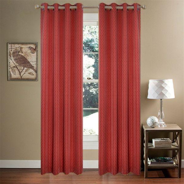Shop For Comforhome Rhombic Faux Silk Window Curtain