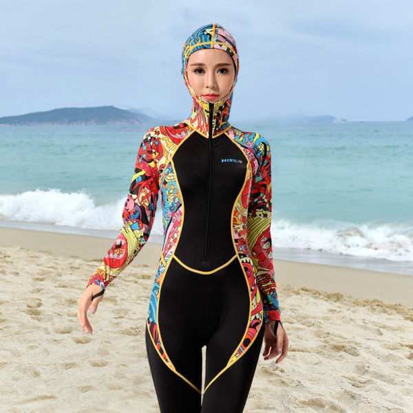 Hisea Scuba Diving Wetsuits Women Swimsuits Sailing Surf UPF50+ Scuba Diving Skin Rash Guards Swimming Jump Stinger Water sports