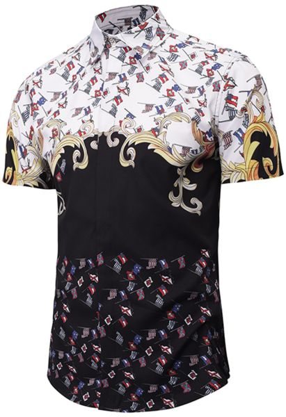 Shop For Pizoff Men S Casual Short Sleeve Arc Bottom