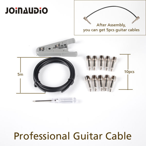 DIY Solderless Guitar Patch Cable for 6 35mm Audio Plugs (4 2002-5M) 5 Sets  / Bag