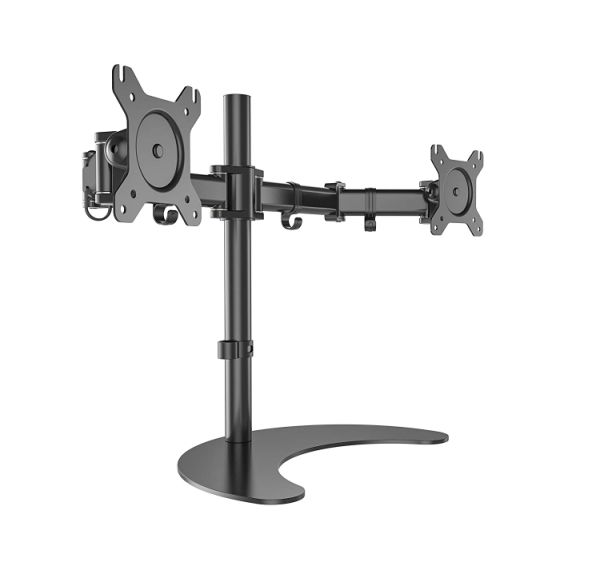 Surprising Gibbon Dual Monitor Stand Heavy Duty Fully Height Adjustable Free Standing Lcd Display Desk Mount Fits Two 13 To 27 Inch Lcd Screens Up To 17 6 Lbs 1 Download Free Architecture Designs Xoliawazosbritishbridgeorg
