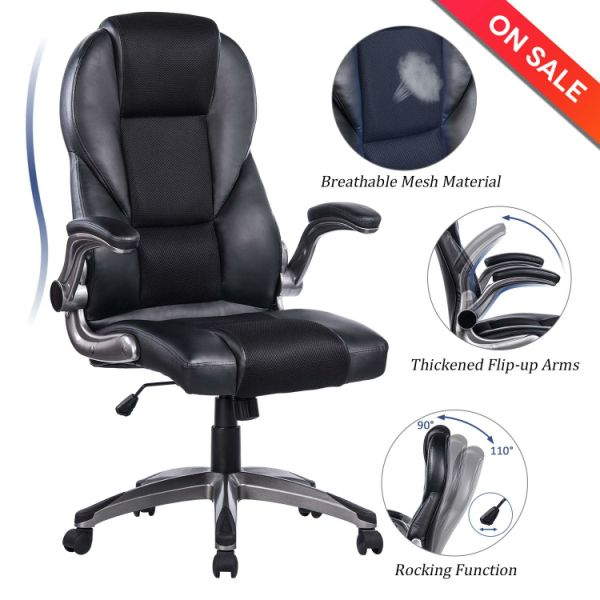 Shop For Breathable High Back Meshleather Office Chair Flip Up