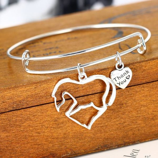 Family Women Charm Bracelet Jewelry Heart Horse Mom Daughter Always Sister Sis Best Friends Bff Pendant Fit Brand 18 1 Piece Box