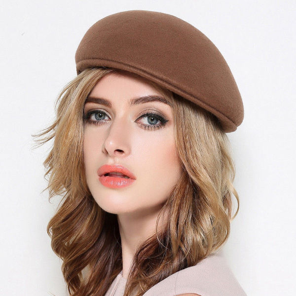 b3772a257581a 2018 Brown Hot Sale Vintage Women Girl Fashionable French Beanie Hat Warm  Wool Winter Berets Cap