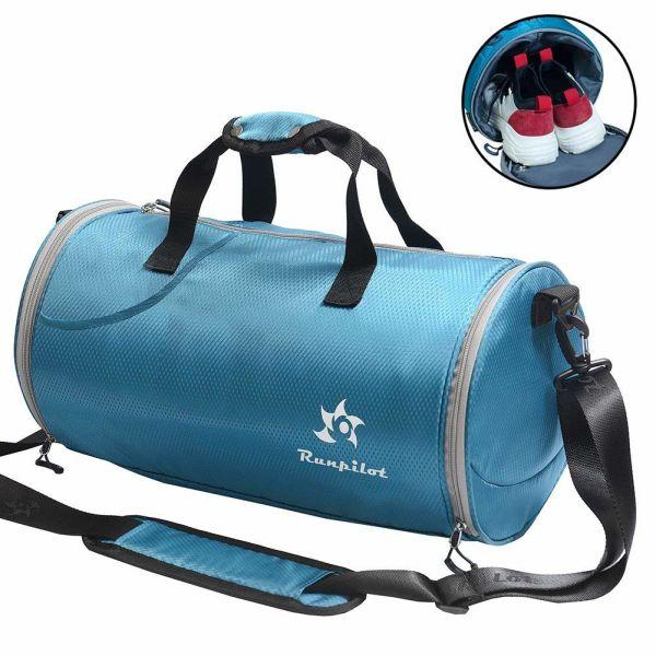 d8ae1d000da Sports Duffel Bag Gym Bag - Waterproof with Shoes Compartment 25L Women Men