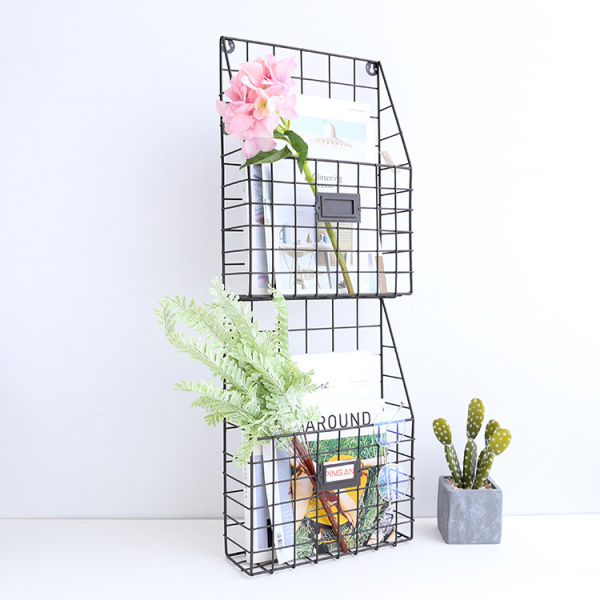 Shop For 2 Tier Iron Wall Hanging Plants Stand Storage Rack Shelf