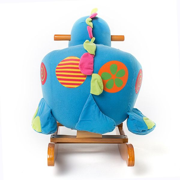 Shop For Labebe Wooden Rocking Horse Blue Dinosaur For 6