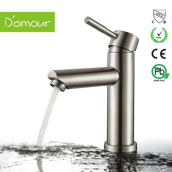Shop For Damour Bathroom Faucet Lavatory Single Handle Brushed