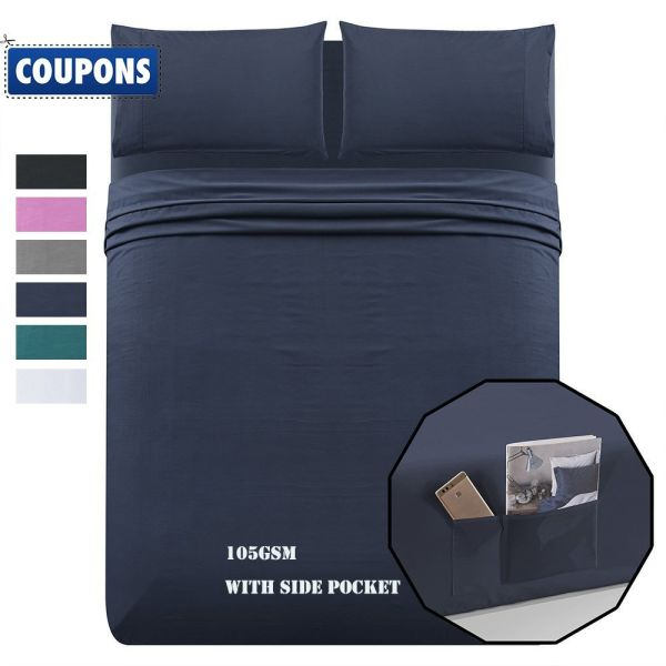Shop For Luxe Manor 105 Gsm 4pc Queen Size Bed Sheet Set Soft
