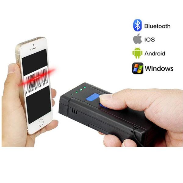1D Portable CCD Red Light Wireless Bluetooth Barcode Scanner, Barcode  Reader 1 Unit / Box