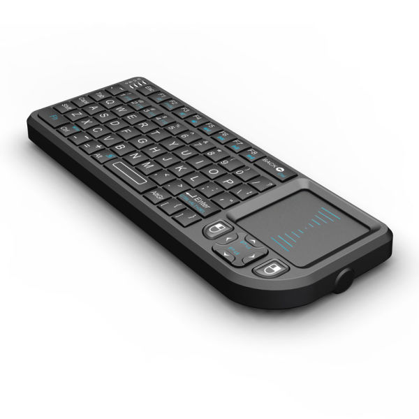 Rii Mini K01X1 Wireless 2.4GHz Keyboard With Mouse Touchpad Remote Control Black ( Mini X1 )