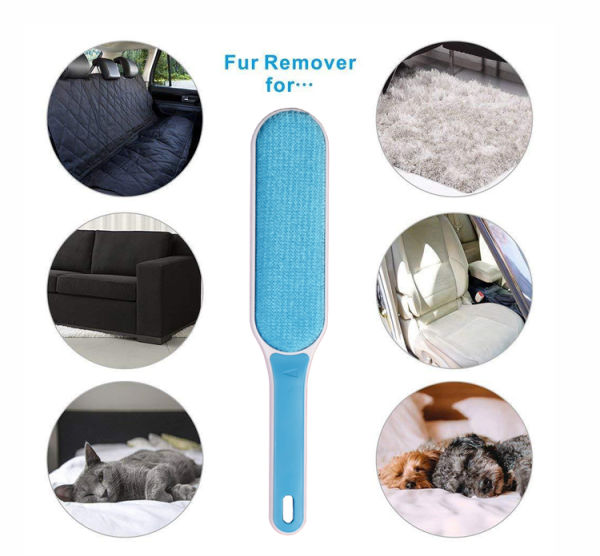Direct Wicker Reusable Pet Fur Remover Lint Roller Remove Dog Cat Hair from Furniture Carpets Clothing