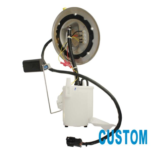 custom 1pc electric intank fuel pump module assembly with fuel level sensor  & floater arm &