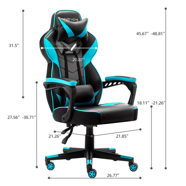 Gaming Chair Office Chair High Back Computer Chair PU Leather Desk Chair PC Racing Executive