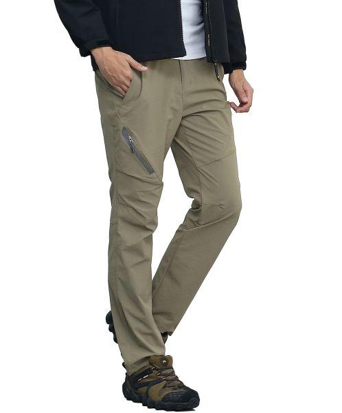 71105e5ad9 SUPERBHUNT Hiking Pants Men: Moisture Wicking Trekking Pants Quick Dry Slim  Fit Lightweight Stretch Camping