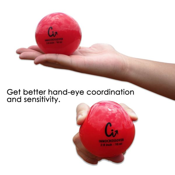 1LB Practice Hitting 16oz-red SK 6 Pack Weighted Baseball//Softball Heavy Training Balls 16OZ Batting and Pitching with Complete Control Powerball