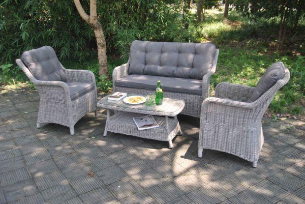 Terrific All Weather Outdoor Wicker 4Pcs Sofa Set Rattan Patio Garden Furniture 4 Pieces Carton Andrewgaddart Wooden Chair Designs For Living Room Andrewgaddartcom