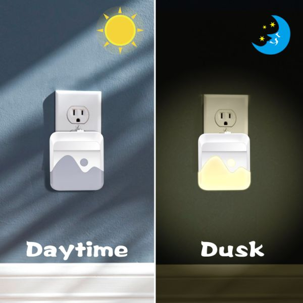 2pcs LED PIR Motion Sensor Smart Night Light AC 100-240V for Bathroom Home Lamp Lighting Bulb US UK EU Plug Warm White