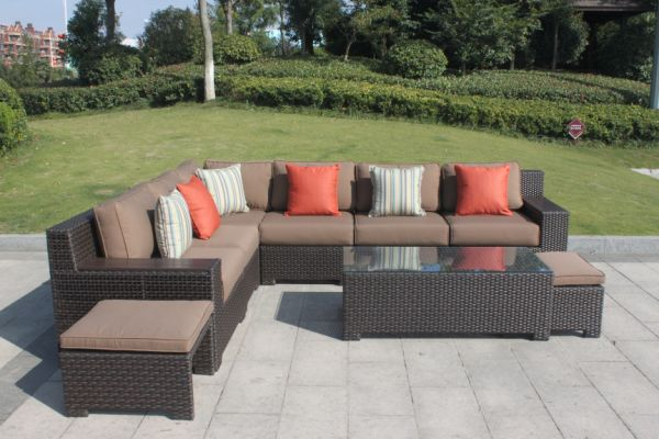Shop For Higreen Outdoor Kingston 9 Piece Patio Wicker Sectional