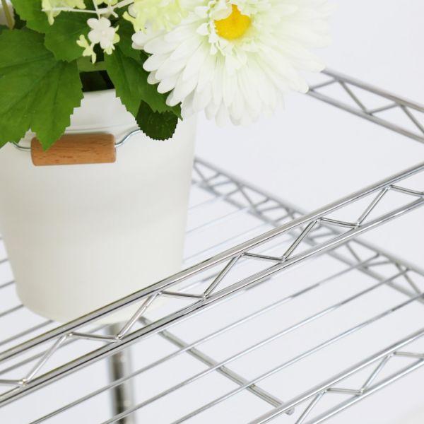 Shop For Kinbor Chrome Steel Wire Stand Adjustable Shelf