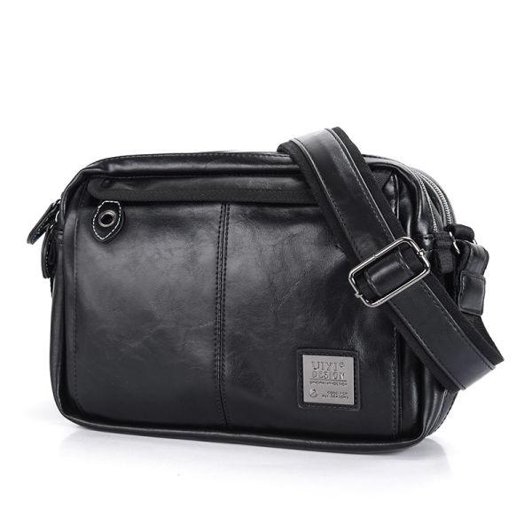 001af8c82cde UIYI New Men s Leather Messenger Bags Multifunctional Men Black Casual Bag  Quality Male Shoulder Crossbody Bag