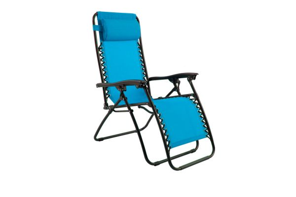 Stupendous Phi Villa Padded Zero Gravity Lounge Chair Patio Foldable Adjustable Reclining For Outdoor Yard Porch Blue 1 Piece Carton Machost Co Dining Chair Design Ideas Machostcouk