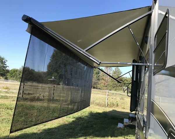 Tentproinc Rv Awning Sun Shade 8 X20 Black Mesh Screen Blocker Complete Kits
