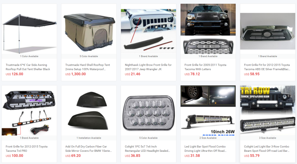 best selling dropshipping auto parts